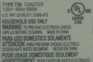 Toaster Label