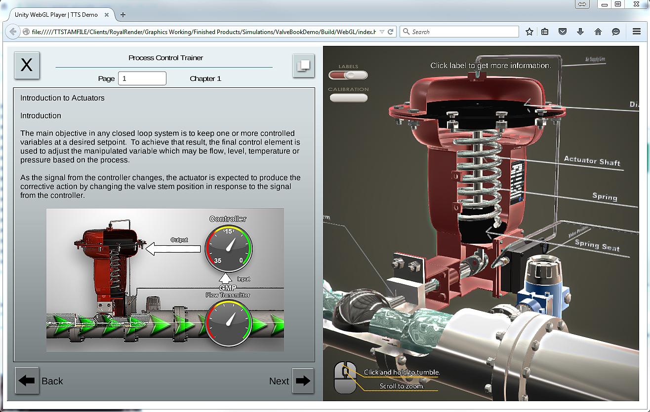 Interactive Procedure Process Control Trainer TTS